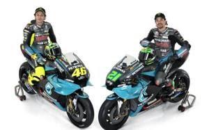 Valentino Rossi e Franco Morbidelli con la Yamaha Petronas 2021